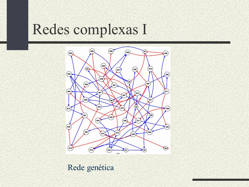 Redes complexas I Rede genética