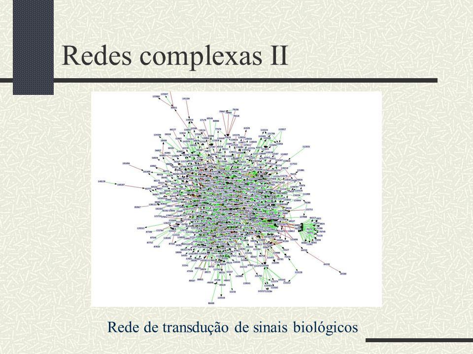 Redes complexas II Rede de transdução de sinais biológicos