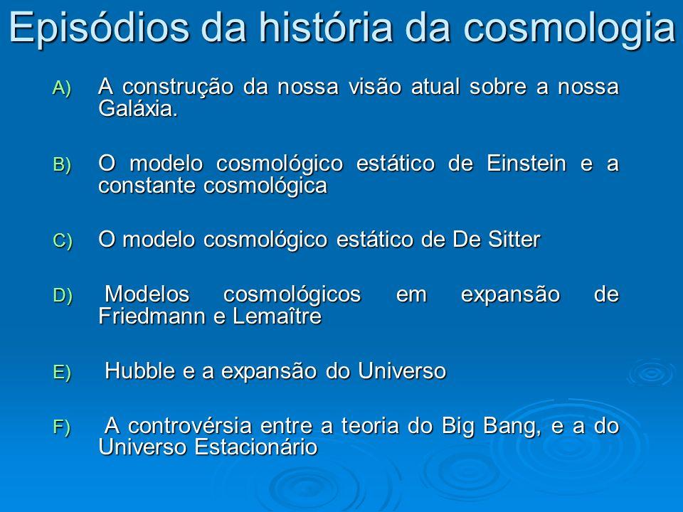 Episódios da história da cosmologia