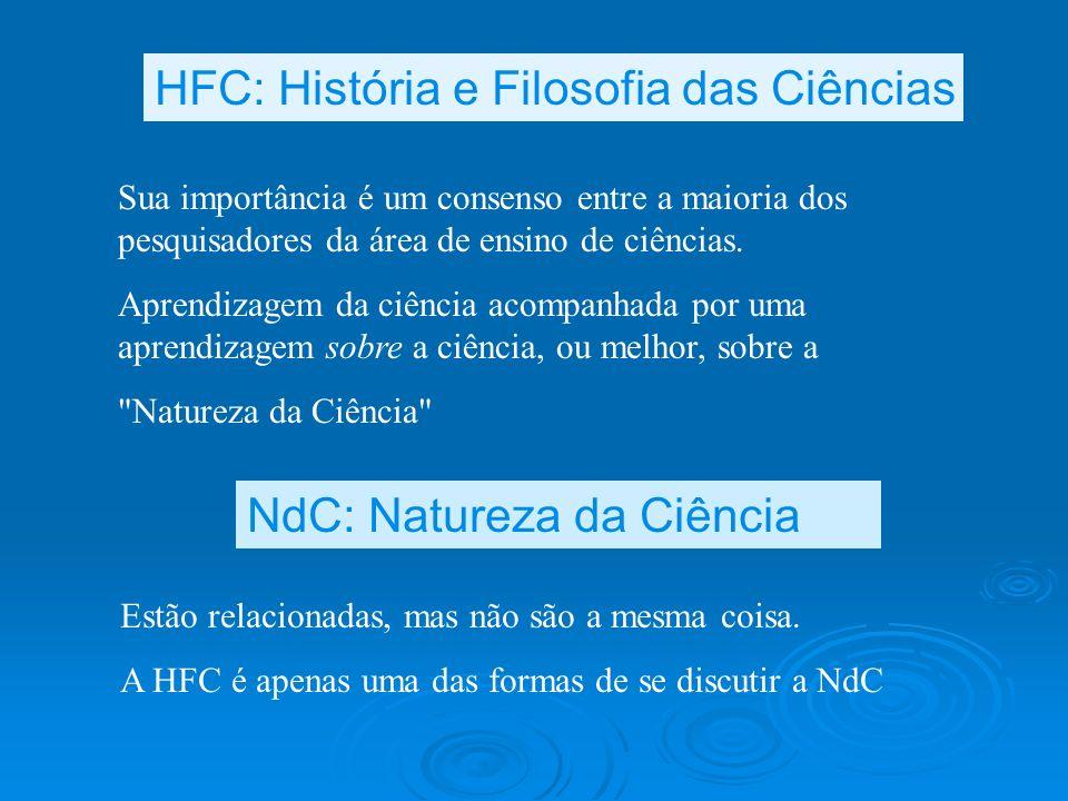 HFC: História e Filosofia das Ciências