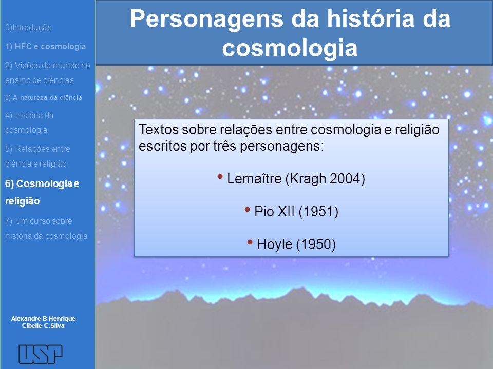 Personagens da história da cosmologia