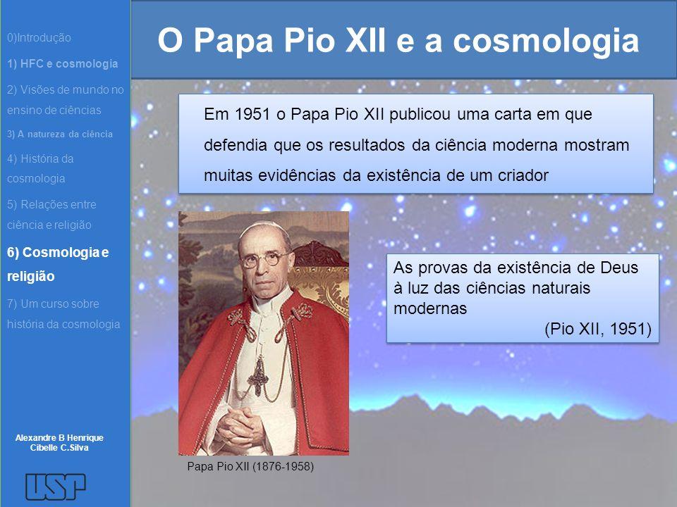 O Papa Pio XII e a cosmologia
