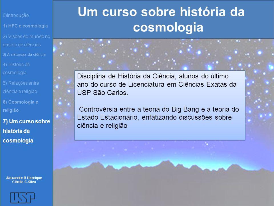 Um curso sobre história da cosmologia