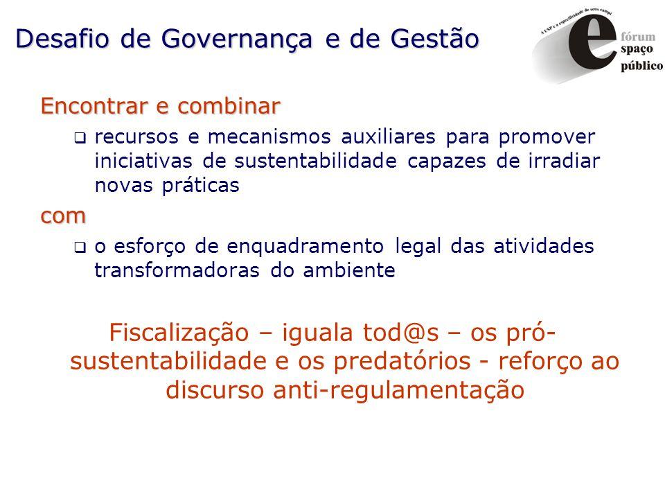 Desafio de Governança e de Gestão