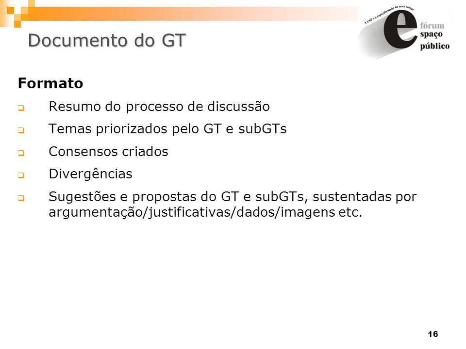 Documento do GT Formato Resumo do processo de discussão