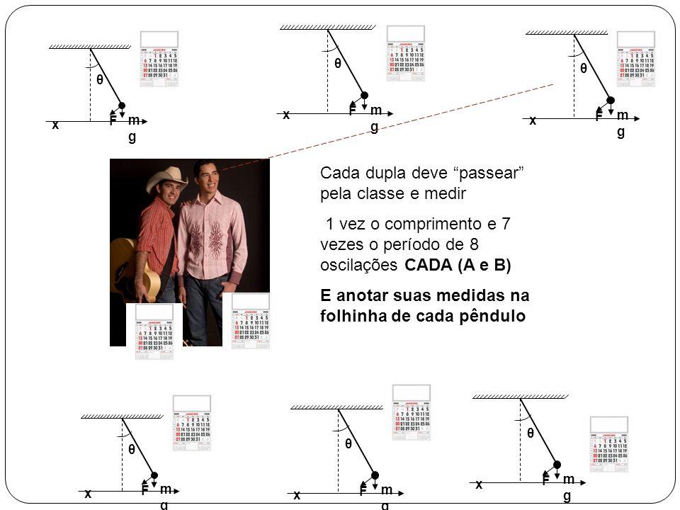 Cada dupla deve passear pela classe e medir