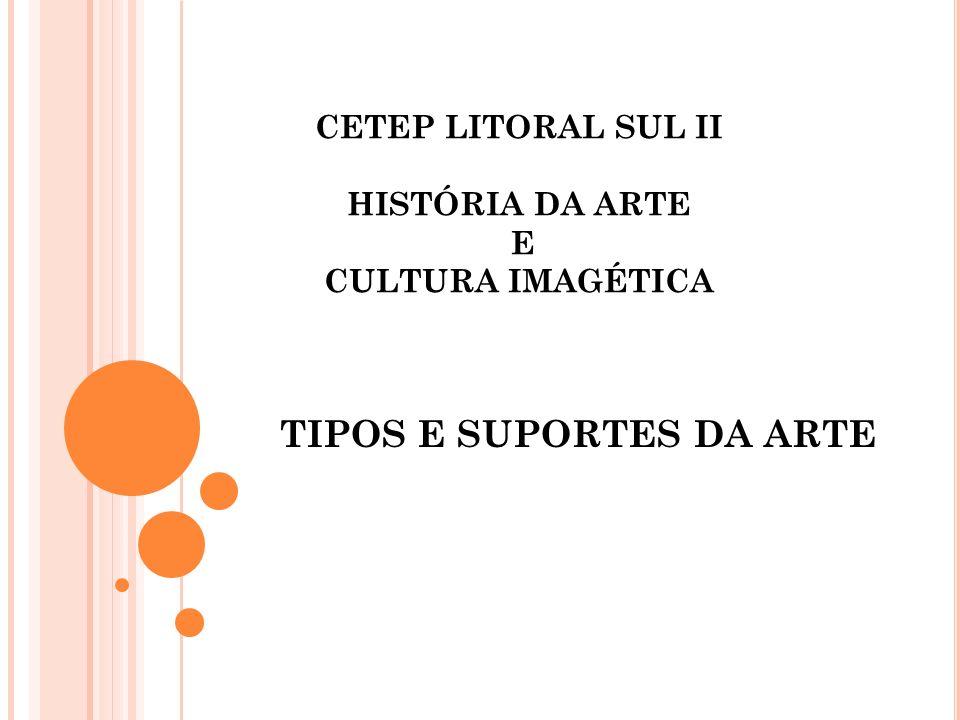 TIPOS E SUPORTES DA ARTE