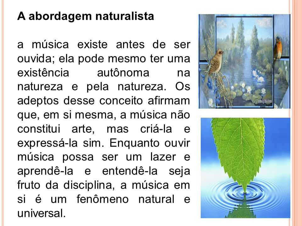 A abordagem naturalista