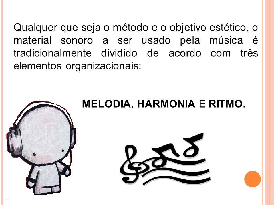 MELODIA, HARMONIA E RITMO.