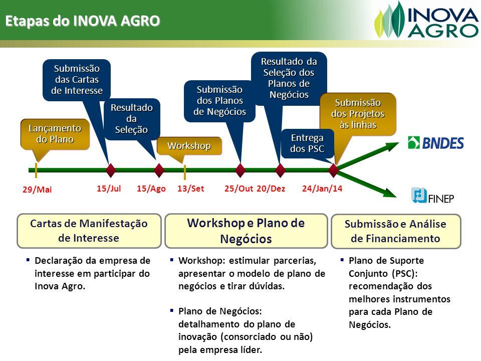Etapas do INOVA AGRO Workshop e Plano de Negócios