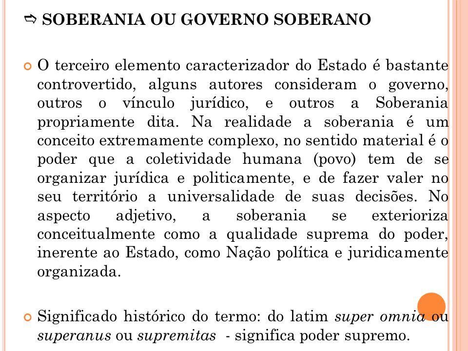  SOBERANIA OU GOVERNO SOBERANO