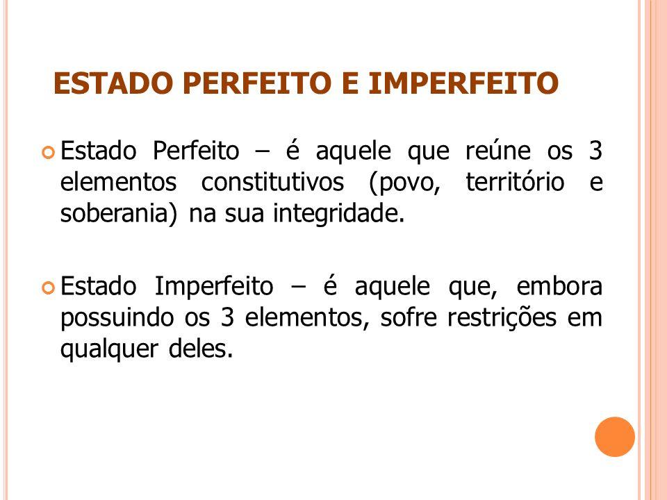 ESTADO PERFEITO E IMPERFEITO