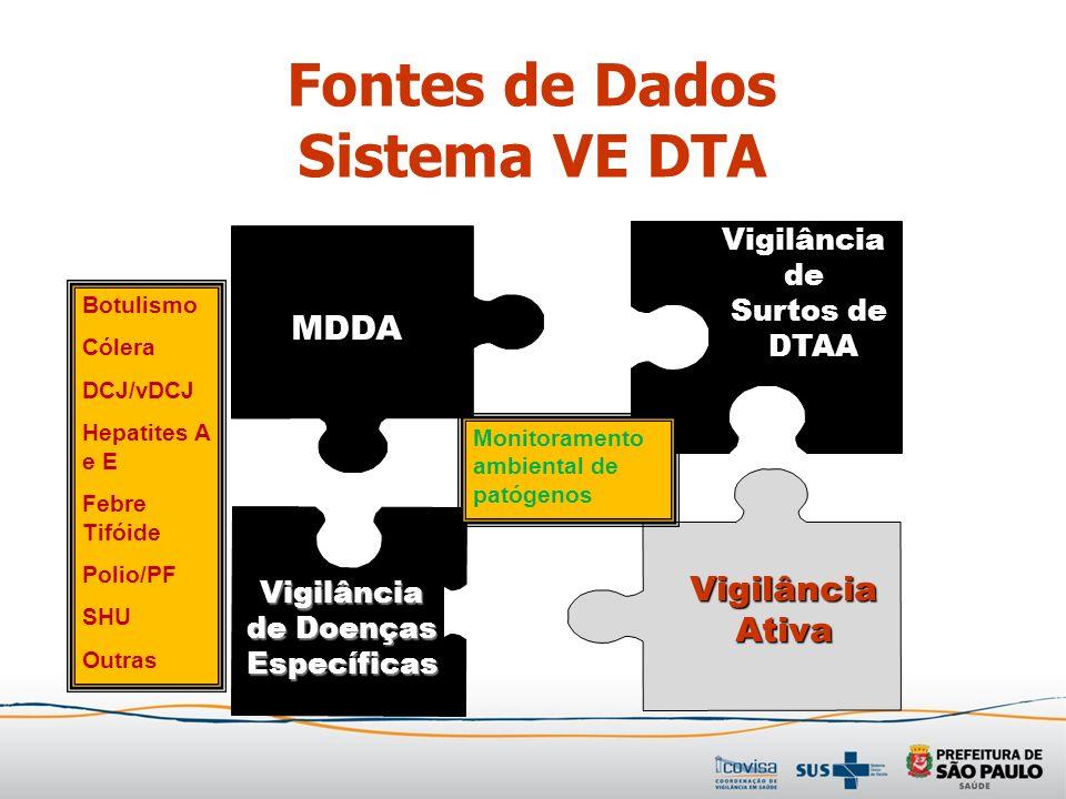 Fontes de Dados Sistema VE DTA