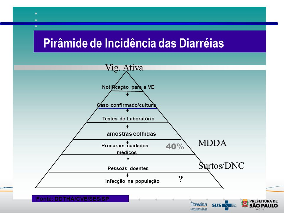 Pirâmide de Incidência das Diarréias