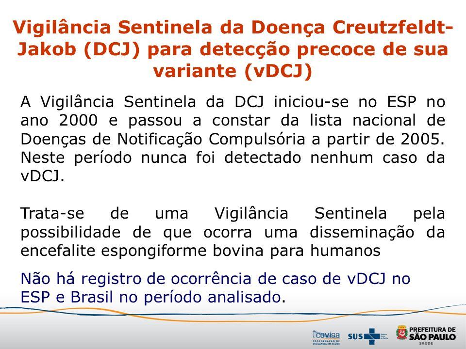 Vigilância Sentinela da Doença Creutzfeldt-Jakob (DCJ) para detecção precoce de sua variante (vDCJ)