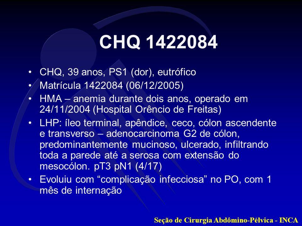 CHQ 1422084 CHQ, 39 anos, PS1 (dor), eutrófico