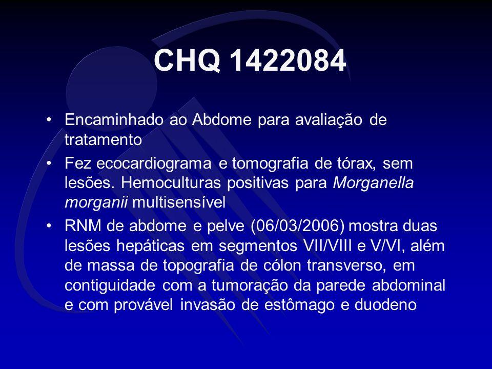 CHQ 1422084 Encaminhado ao Abdome para avaliação de tratamento