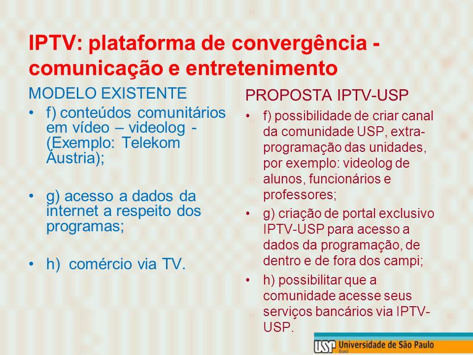 IPTV: plataforma de convergência - comunicação e entretenimento