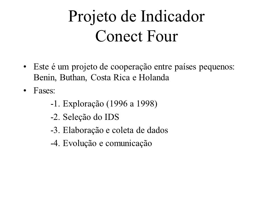Projeto de Indicador Conect Four