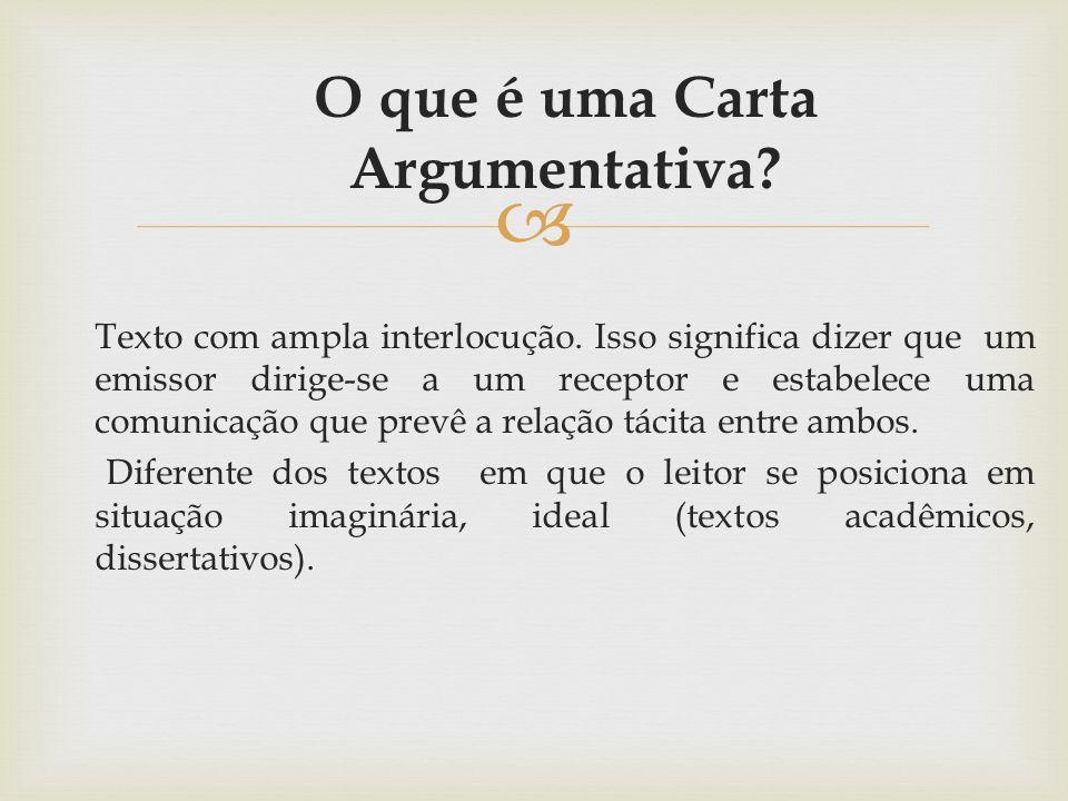 O que é uma Carta Argumentativa