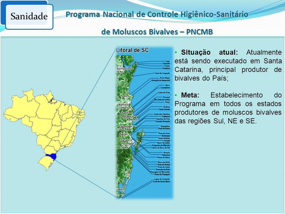 Sanidade Programa Nacional de Controle Higiênico-Sanitário de Moluscos Bivalves – PNCMB.
