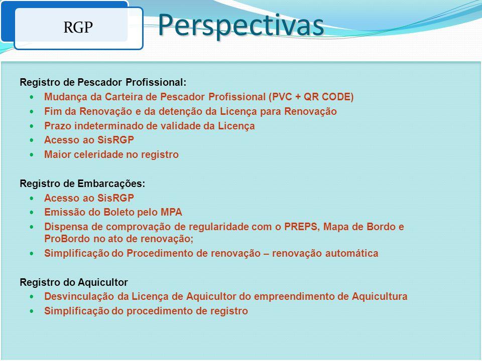 Perspectivas RGP Registro de Pescador Profissional: