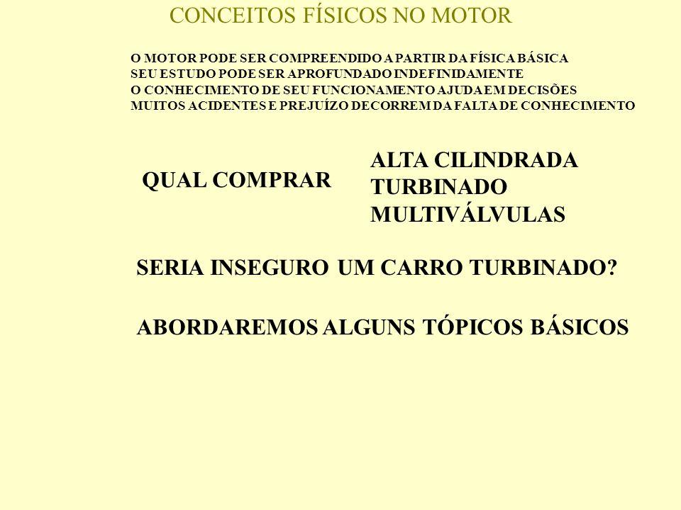 CONCEITOS FÍSICOS NO MOTOR