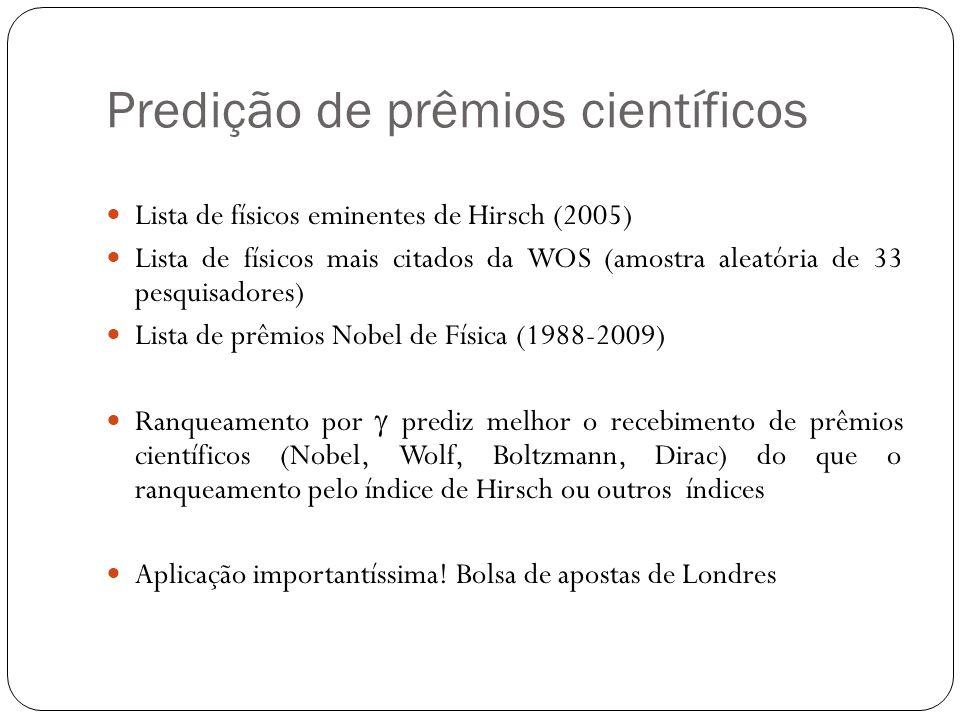 Predição de prêmios científicos