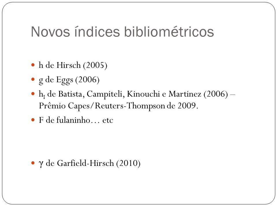 Novos índices bibliométricos