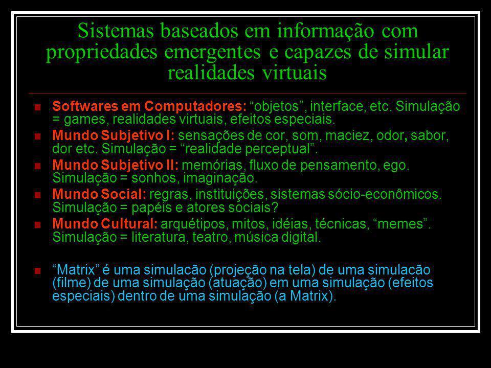 Sistemas baseados em informação com propriedades emergentes e capazes de simular realidades virtuais