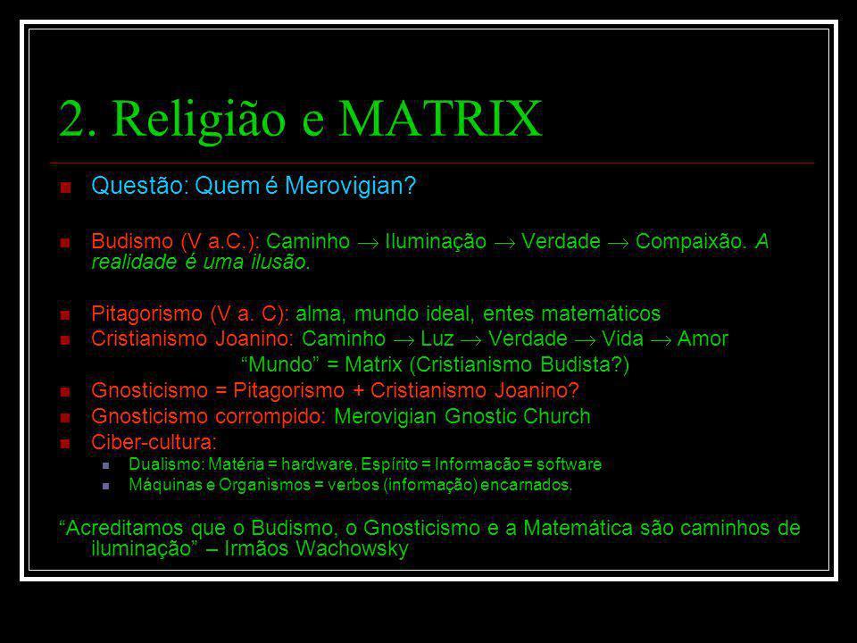 Mundo = Matrix (Cristianismo Budista )