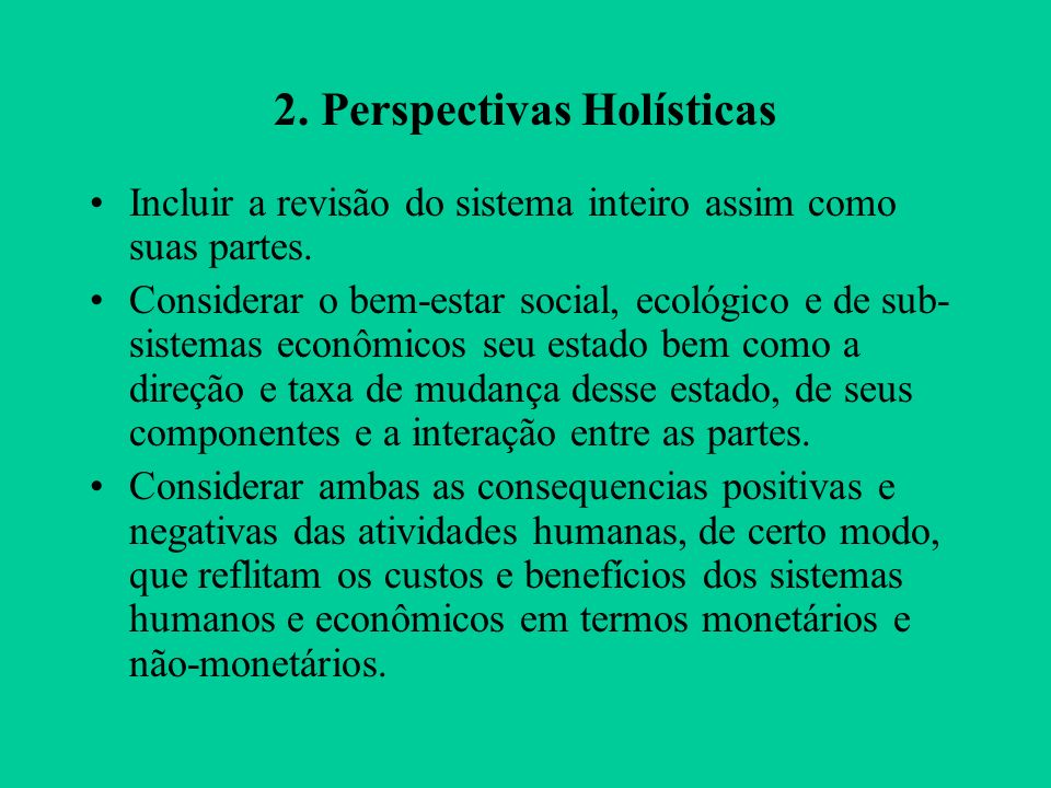 2. Perspectivas Holísticas
