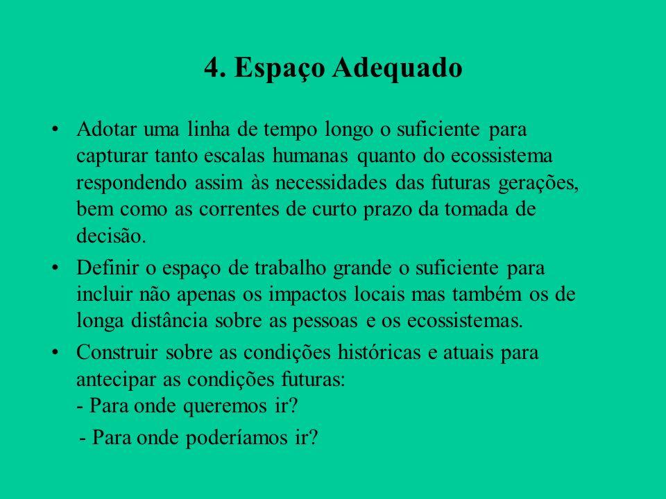 4. Espaço Adequado