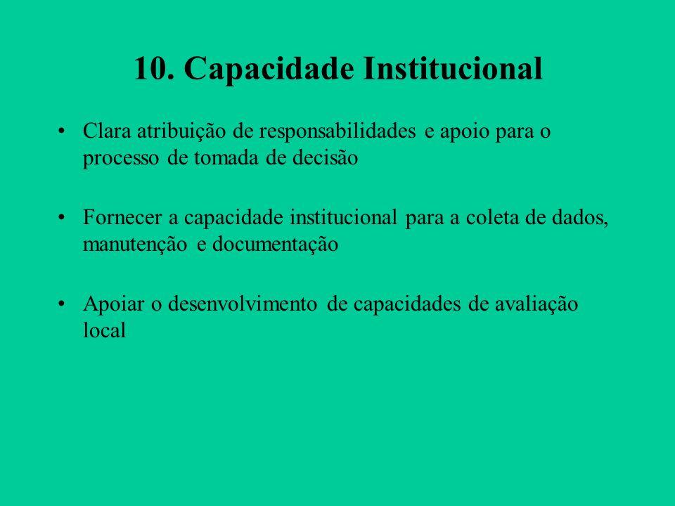 10. Capacidade Institucional