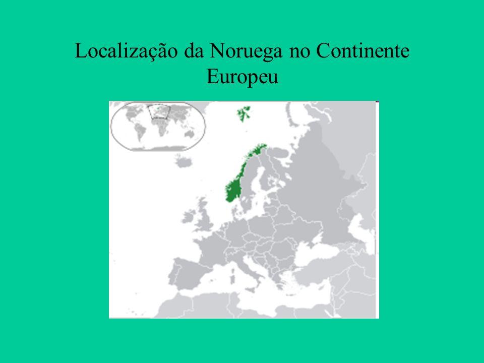 Localização da Noruega no Continente Europeu
