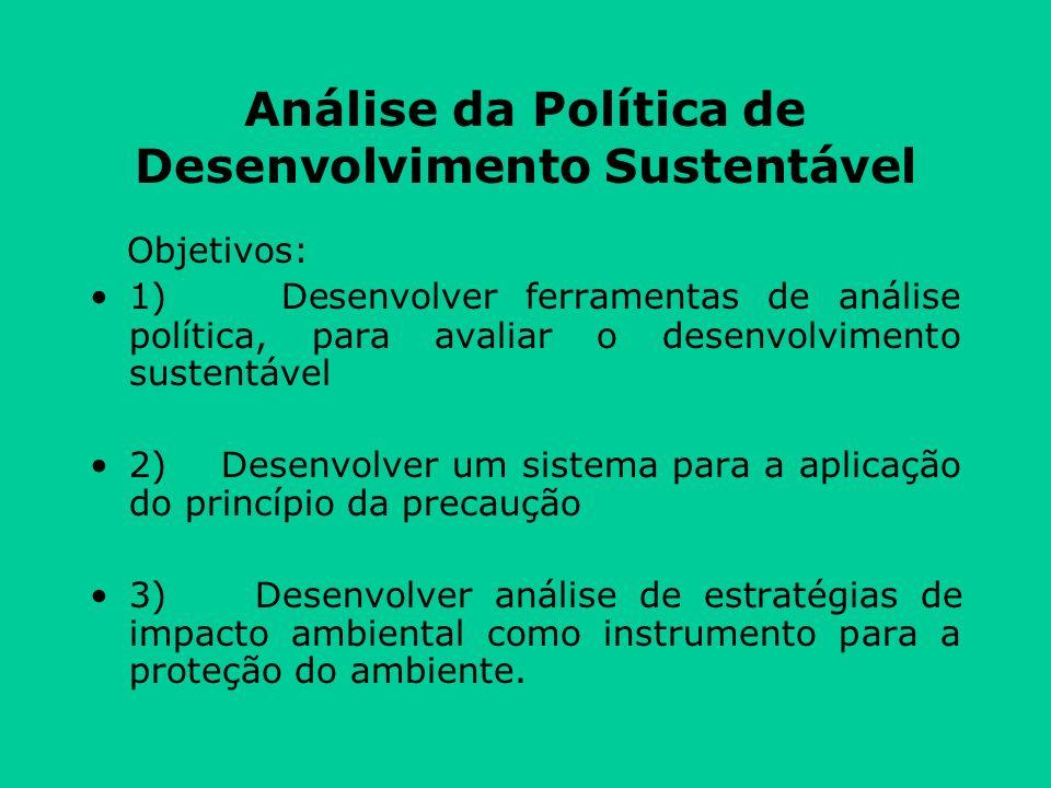 Análise da Política de Desenvolvimento Sustentável