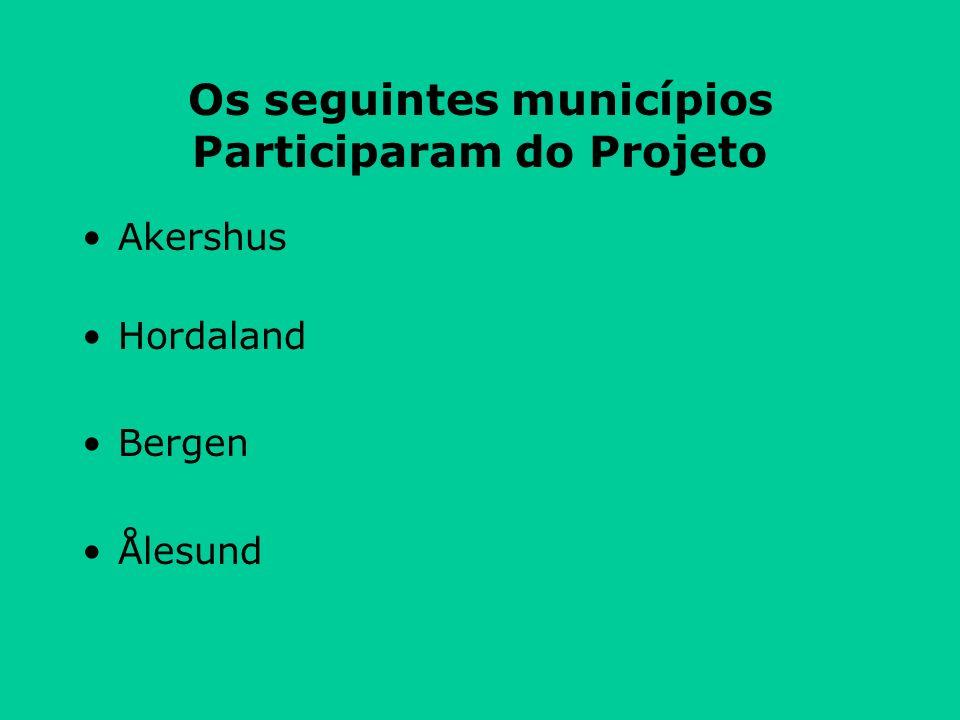 Os seguintes municípios Participaram do Projeto