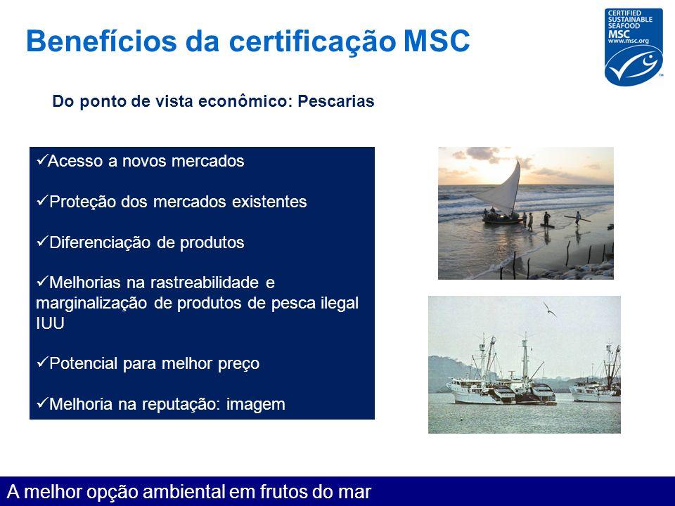 Benefícios da certificação MSC