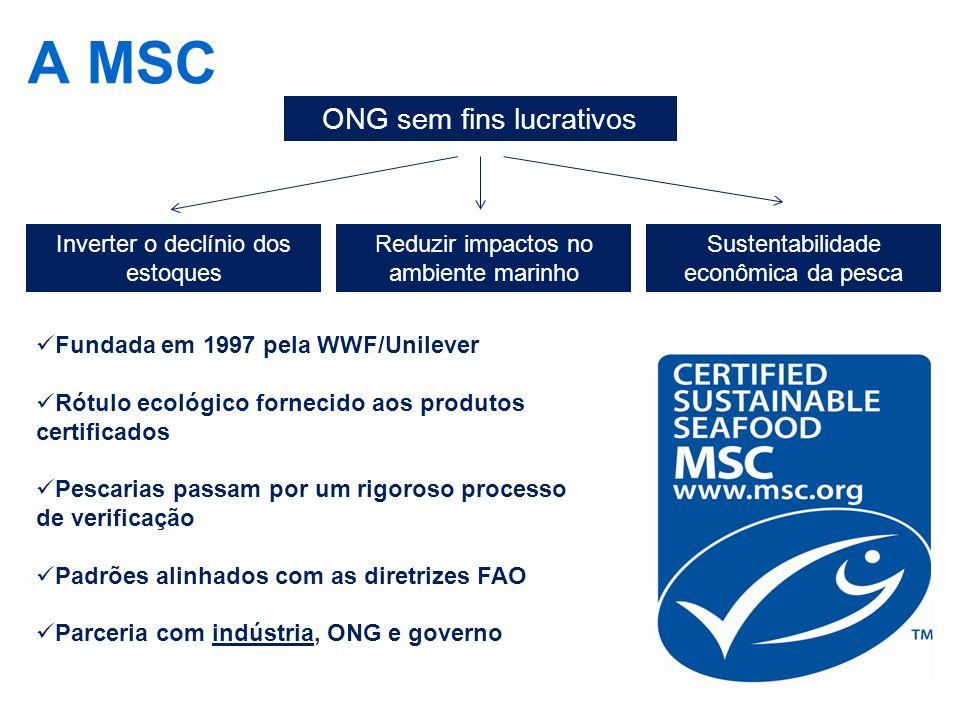 A MSC ONG sem fins lucrativos Inverter o declínio dos estoques
