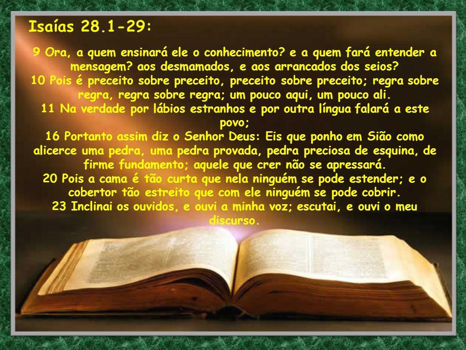 Isaías 28.1-29: