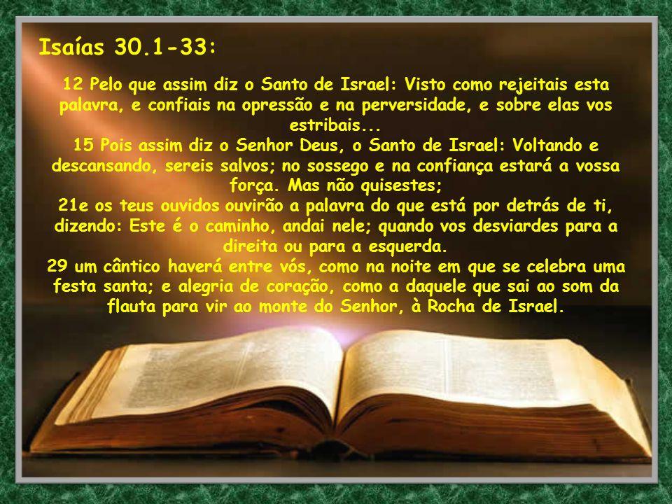 Isaías 30.1-33:
