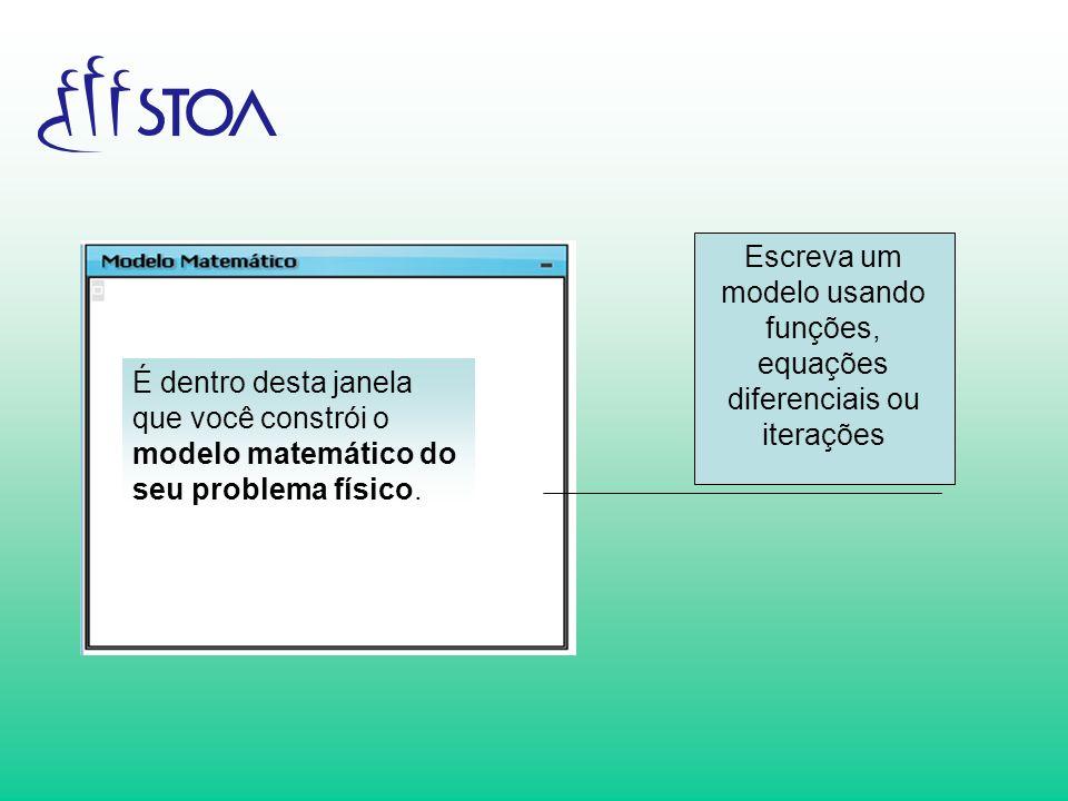 Escreva um modelo usando funções, equações diferenciais ou iterações