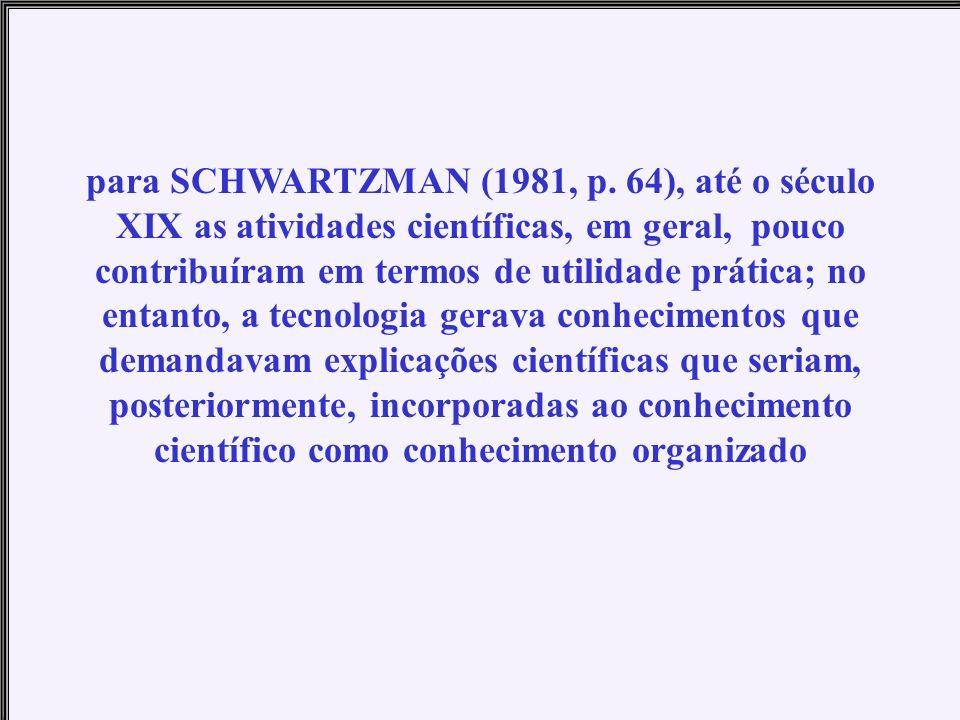 para SCHWARTZMAN (1981, p.