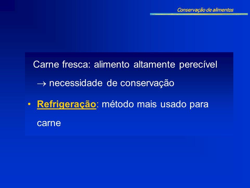 Refrigeração: método mais usado para carne