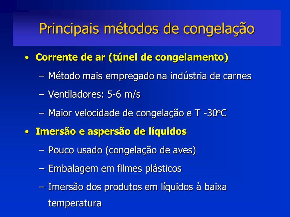Principais métodos de congelação