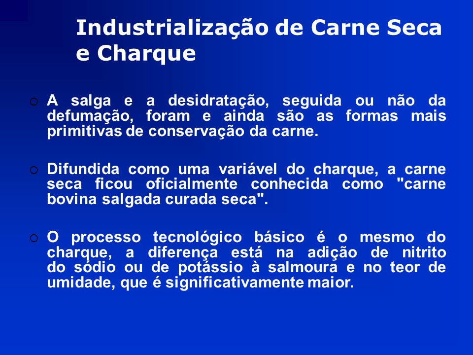 Industrialização de Carne Seca e Charque