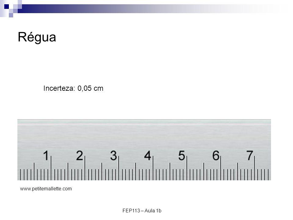 Régua Incerteza: 0,05 cm www.petitemallette.com FEP113 – Aula 1b