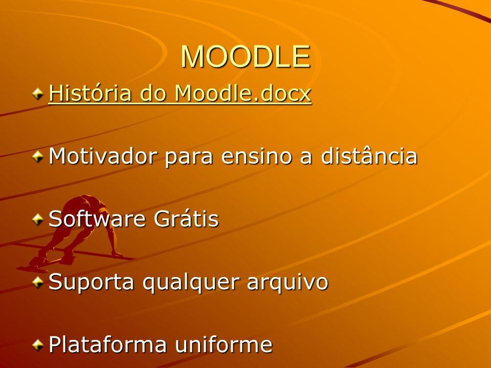 MOODLE História do Moodle.docx Motivador para ensino a distância