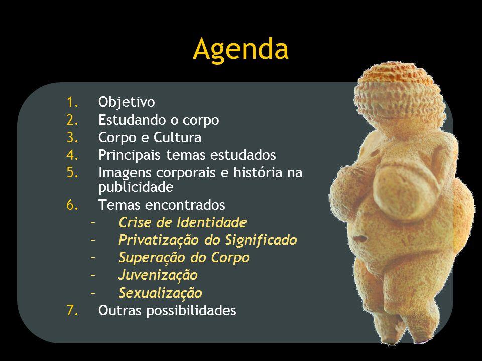 Agenda Objetivo Estudando o corpo Corpo e Cultura