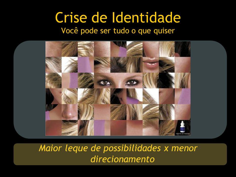 Crise de Identidade Você pode ser tudo o que quiser